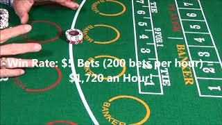 Number 1 Baccarat System! Win $1,410 an Hour Making $10 Bets!