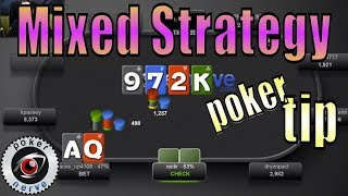 Playing a Mixed Strategy [Poker Tournament Strategy]