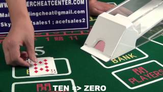 Baccarat cheating device Blackjack cheating device Cheating poker shoe Pin hole cam lens system