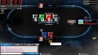 888 Poker Blast $1 SNG- Support Tip