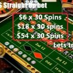 Roulette strategy with 2 bet unit placed on straight up number, with a 30 spins betting system.