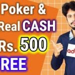 Play Poker Online and Win Real Money in India at Adda52.com | Get 500 Bonus Now
