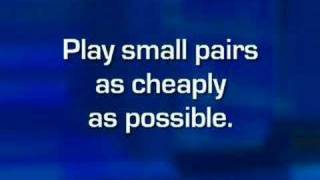 Expert Insight Poker Tip: Playing Small Pocket Pairs