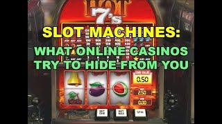 Slot Machines: What Online Casinos Try to Hide from You