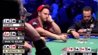 Oppenheim V Mizrachi   Brilliant Bluff   Great Poker Hands