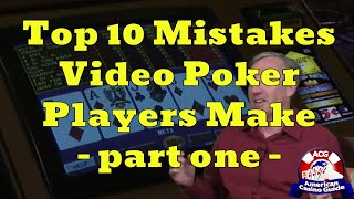 """Top 10 Mistakes Video Poker Players Make with Mike """"Wizard of Odds"""" Shackleford – part one"""