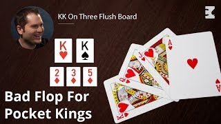Poker Strategy: KK On Three Flush Board