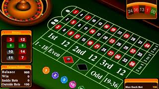 [Trifecta Betting System] European Roulette VS Baccarat – Both Win 10% Per Hour!? – $10-$100 MAX