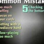Texas Holdem common mistakes