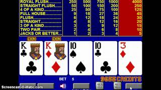Video Poker Strategy – Thoughts and Reflections