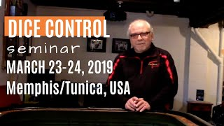 Learn How to Play Craps & Win! Dice Control Seminar March 23-24 in Memphis/Tunica.