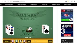 Baccarat Wining Strategy with Money Managment 1/2/18