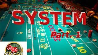 Craps System Casino betting Gambling Slots p1 CRAPS SYSTEM