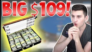 BIG HAND on the  Big $109 – FINAL TABLE Bubble!