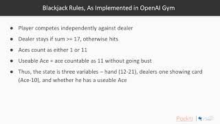 Hands – On Reinforcement Learning with Python: Running Blackjack Envt From OpenAI Gym  packtpub.com