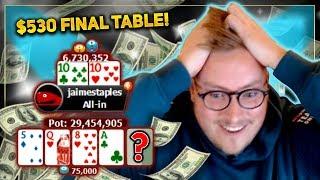 $530 FINAL TABLE – INCREDIBLE POKER RUN!! 5 FIGURE SCORE??? |  PokerStaples Stream Highlights