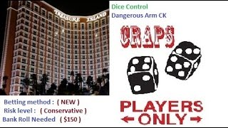 "Craps Dice Control – How To  "" Conservative bet "" Winning $$$$"