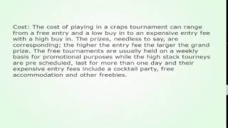 Craps Tournaments Winning Tips And Guidance 131
