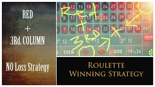 Red + 3rd Column = No loss strategy : Roulette WIN tricks earn 💰 Money in every session