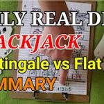 Daily Real Deal: Blackjack Martingale vs Flat Bet Summary