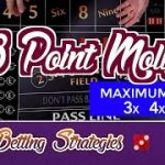 Craps Betting Strategy – 3 Point Molly – Max 3,4,5x Odds