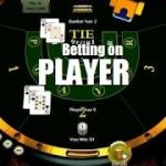 Baccarat strategy and betting system on the Player