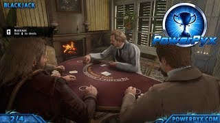 Red Dead Redemption 2 All Minigames Locations (Five Finger Fillet, Poker, Blackjack, Dominoes)