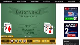 Baccarat Strategies by Chi 6/24/19
