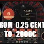 From 0.25 CENTS€ to 2000€ at NetEnt RAPID LIVE ROULETTE w DEALER