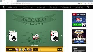 Baccarat Wining Strategies 4/17/19