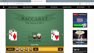 Baccarat Winning Strategies with M.M. form Chi : )) 6/8/19