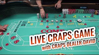 LIVE CRAPS GAME with Master Craps Dealer David | Casino Craps Let's Play #2