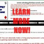 Learn to win at Baccarat