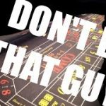 Never do this at the craps table!