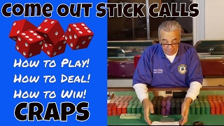 Professional Craps Training for Beginners [Step 9 of 33] – Come Out Stick Calls