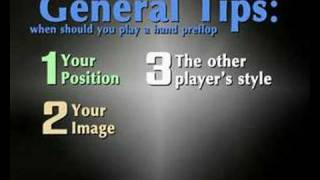 No limit Texas Holdem tips
