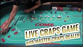 LIVE CRAPS GAME with Master Craps Dealer Lisa Las Vegas   Casino Craps Let's Play #1