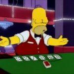 The Simpsons – Homer is a blackjack dealer
