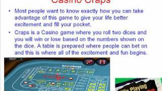 How To Play Craps At The Casino – Free Tips