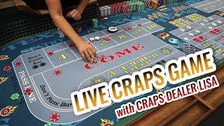 LIVE CRAPS GAME with Master Craps Dealer Lisa   Casino Craps Let's Play #4