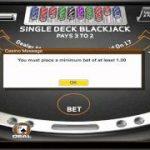 Playing Single Deck Blackjack with BonusBlackjack.org