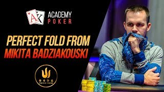 PERFECT fold from Mikita Badziakouski with the comments of Poker PRO