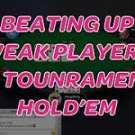 "Beating Up Weak Players in Tournament Hold'em (6 handed ""practice"" poker play money tournament)"