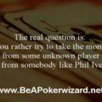 Dan Harrington poker tip – When to play loose!