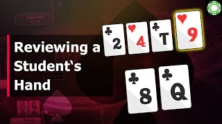 Reviewing a Student's Hand from the Sunday Million!