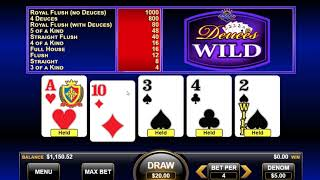 [New Deuces Wild Video Poker] A Progressive Betting System With Real Money And A $250 Win!