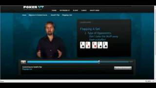 Daniel Negreanu Poker Tips 6 of 25 – Flopping a Set