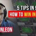 5 tips in 5 minutes | How to win in MTT poker?