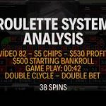 STRATEGY APPLICATION – Initial bankroll $500 – Win $530 – Live play Roulette – Vídeo 82