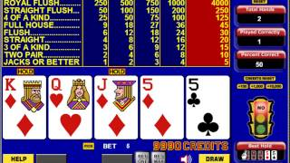 Learn to win at Video Poker like a pro!  – Interactive Tutorial shows you how.